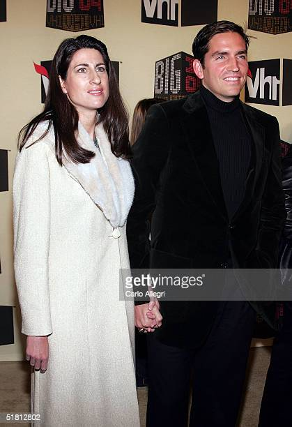 Actor Jim Caviezel and wife attend the VH1 Big in '04 at the Shrine Auditorium December 1 2004 in Los Angeles California