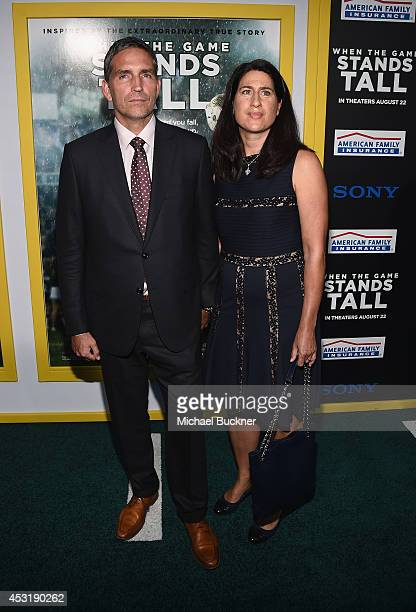Actor Jim Caviezel and wife Kerri arrives at the premire of Tri Star Pictures' ' When The Game Stands Tall' at the ArcLight Cinemas on August 4 2014...