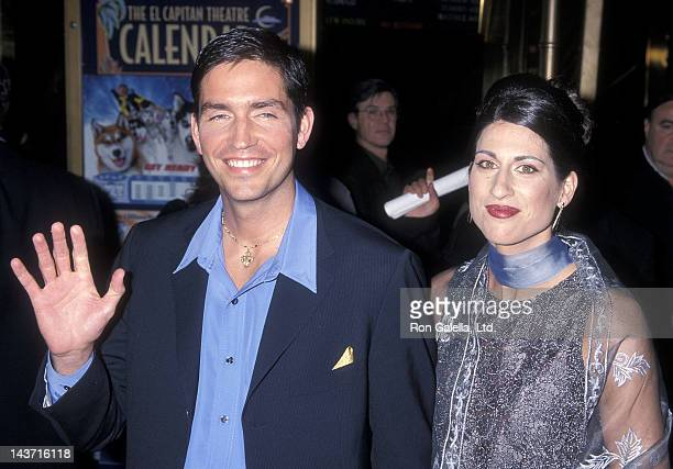 """Actor Jim Caviezel and wife Kerri Browitt attend """"The Count of Monte Cristo"""" Hollywood Premiere on January 23, 2002 at the El Capitan Theatre in..."""