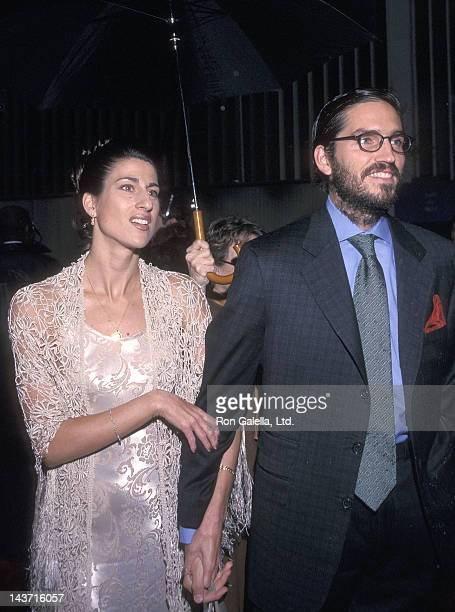 """Actor Jim Caviezel and wife Kerri Browitt attend the """"Frequency"""" New York City Premiere on April 26, 2000 at the Ziegfeld Theatre in New York City."""