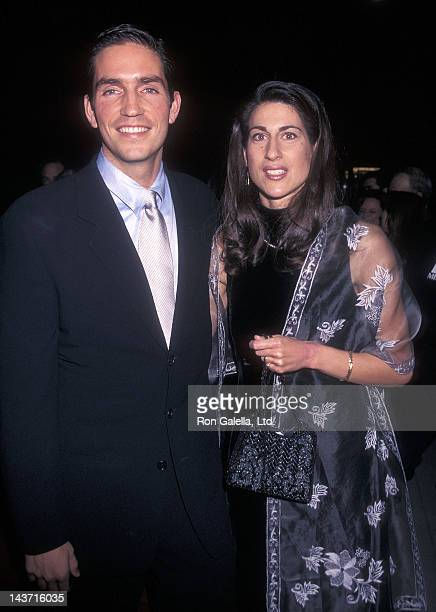 """Actor Jim Caviezel and wife Kerri Browitt attend """"The Thin Red Line"""" Beverly Hills Premiere on December 22, 1998 at the Academy of Motion Picture..."""