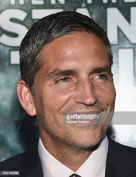 Actor Jim Caviezel arrives at the premire of Tri Star Pictures' When The Game Stands Tall at the ArcLight Cinemas on August 4 2014 in Hollywood...