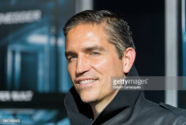 Actor Jim Caviezel attends the Escape Plan premiere at Regal EWalk on October 15 2013 in New York City
