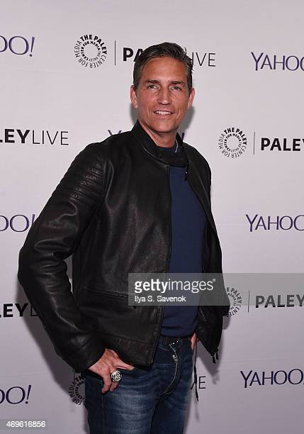 Actor Jim Caviezel attends The Paley Center For Media Hosts An Evening With Person Of Interest at The Paley Center for Media on April 13 2015 in New...