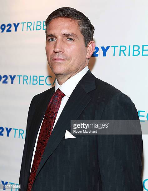 Actor Jim Caviezel attends the 'Person Of Interest' preview screening and QA at92Y Tribeca on September 24 2012 in New York City