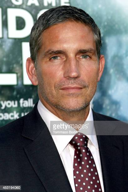 Actor Jim Caviezel attends the When The Game Stands Tall Los Angeles premiere held at the ArcLight Hollywood on August 4 2014 in Hollywood California