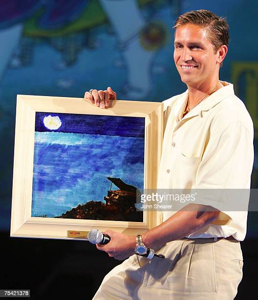 Actor Jim Caviezel is honored at the Alberto Forbi Arena during the Giffoni Film Festival on July 14 2007 in Giffoni Italy