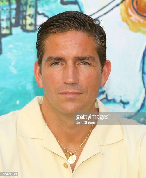 Actor Jim Caviezel poses at a photo call at Cinema Truffaut during the Giffoni Film Festival on July 14 2007 in Giffoni Italy