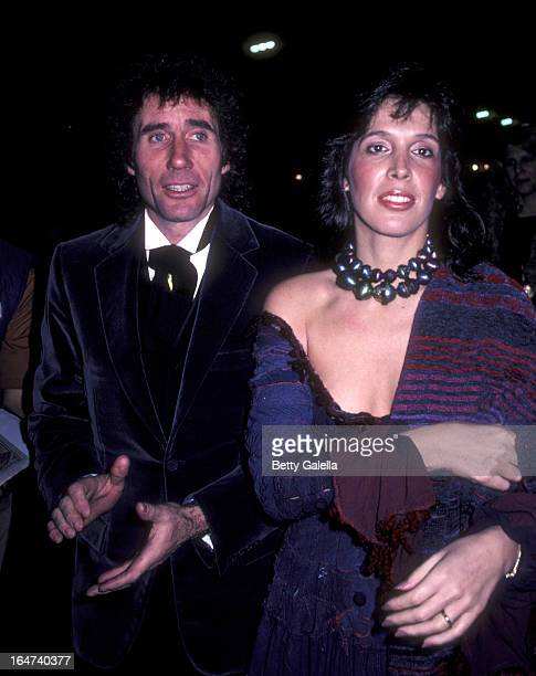 Actor Jim Dale and Julia Schafler attend the opening party for Barnum on February 14 1982 at the Brown Derby in Hollywood California