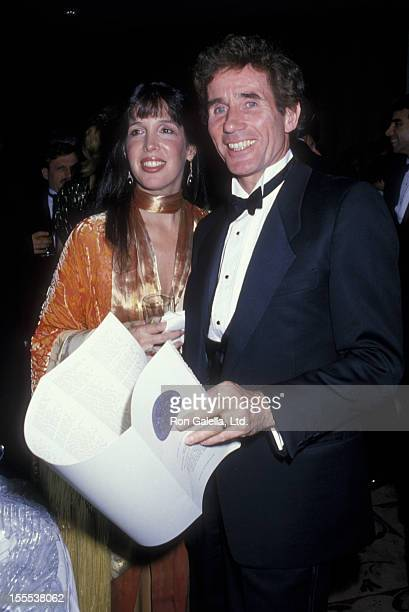 Actor Jim Dale and wife Julia Schafler attend 42nd Annual Tony Awards on June 5 1988 at the Minskoff Theater in New York City