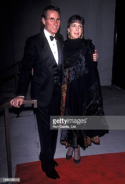Actor Jim Dale and wife Julia Schafler attend 44th Annual Drama Desk Awards on May 9 1999 at Lincoln Center in New York City