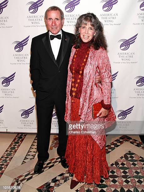 Actor Jim Dale and wife Julia Schafler attend the 2010 American Theatre Wing Spring Gala at Cipriani 42nd Street on June 7 2010 in New York City
