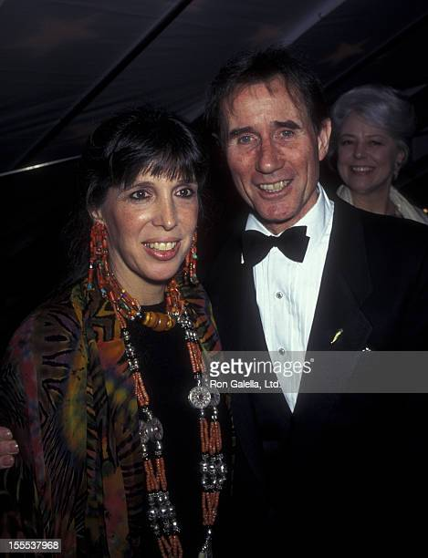 Actor Jim Dale and wife Julia Schafler attend the opening of Candide on April 29 1997 at the Gershwin Theater in New York City