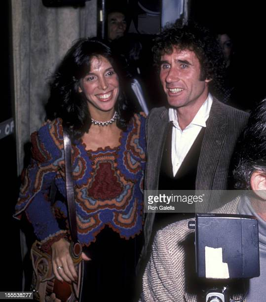 Actor Jim Dale and wife Julia Schafler attend the opening of The Elephant Man on September 28 1980 at the Booth Theater in New York City
