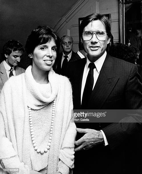 Actor Jim Dale and wife Julia Schafler attend the opening party for Edmund Kean on September 27 1983 at the Players Club in New York City