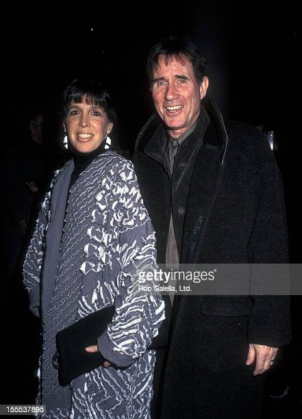 Actor Jim Dale and wife Julia Schafler attend the premiere of The Hunchback on March 10 1997 at the Sony Lincoln Square Theater in New York City