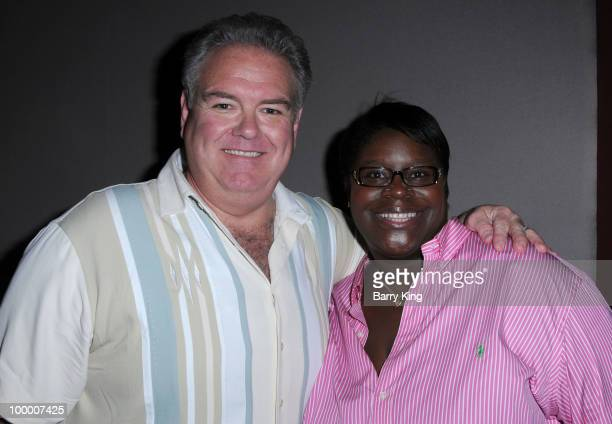Actor Jim O'Heir and actress Retta attend the reception for NBC's Parks and Recreation Emmy Screening held at the Leonard H Goldenson Theatre on May...