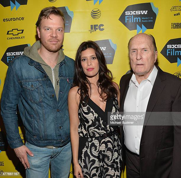 """Actor Jim Parrack, actress Angie Cepeda and actor Robert Duvall attend the screening of """"A Night In Old Mexico"""" during the 2014 SXSW Music, Film +..."""
