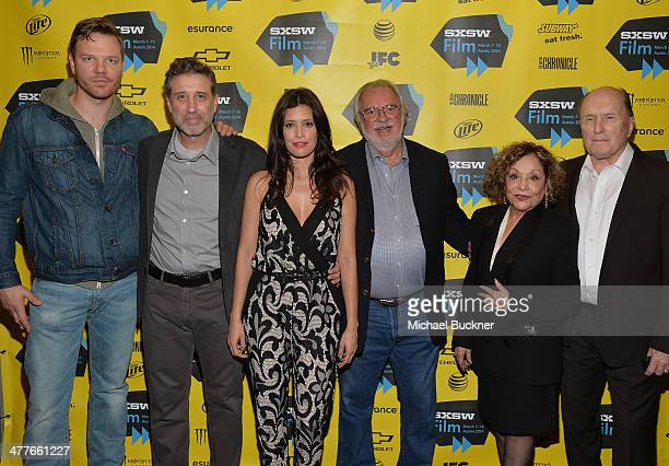 """Actor Jim Parrack, director Emilio Aragón, actress Angie Cepeda, writer William D. Wittliff, and actor Robert Duvall attend the screening of """"A Night..."""