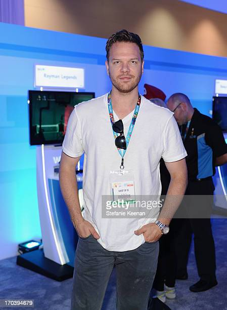 Actor Jim Parrack gets an exclusive look at Rayman Legends for Wii U at the 2013 E3 Gaming Convention at Los Angeles Convention Center on June 12,...