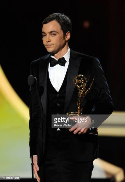 Actor Jim Parsons accepts the Outstanding Lead Actor in a Comedy Series award onstage during the 63rd Annual Primetime Emmy Awards held at Nokia...
