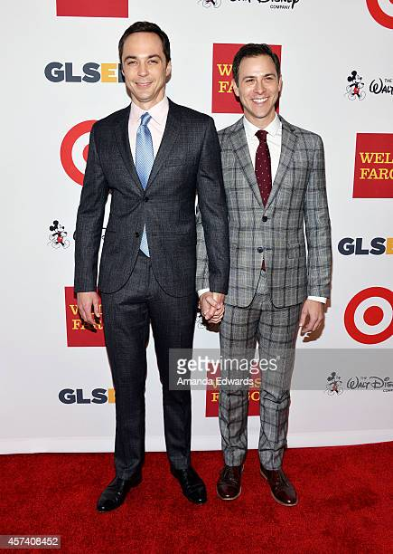 Actor Jim Parsons and Todd Spiewak arrive at the 10th Annual GLSEN Respect Awards at the Regent Beverly Wilshire Hotel on October 17 2014 in Beverly...