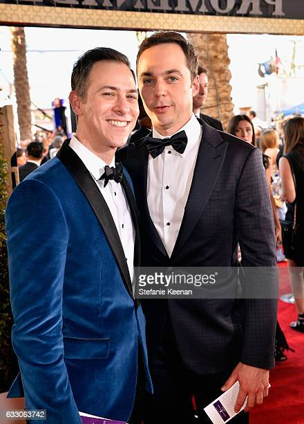 Actor Jim Parsons and Todd Spiewak attend The 23rd Annual Screen Actors Guild Awards at The Shrine Auditorium on January 29 2017 in Los Angeles...