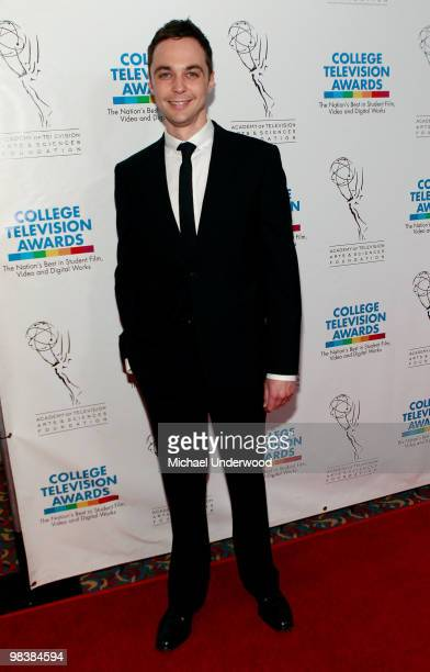 Actor Jim Parsons arrives at the 31st Annual College Television Awards hosted by the Academy of Television Arts and Sciences held at the Hollywood...