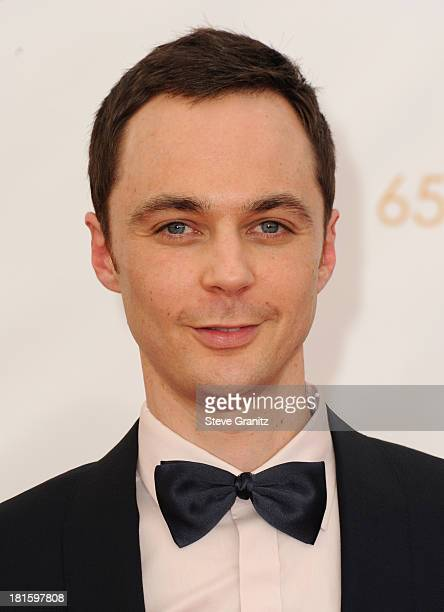 Actor Jim Parsons arrives at the 65th Annual Primetime Emmy Awards held at Nokia Theatre LA Live on September 22 2013 in Los Angeles California