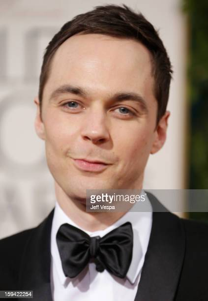 Actor Jim Parsons arrives at the 70th Annual Golden Globe Awards held at The Beverly Hilton Hotel on January 13 2013 in Beverly Hills California