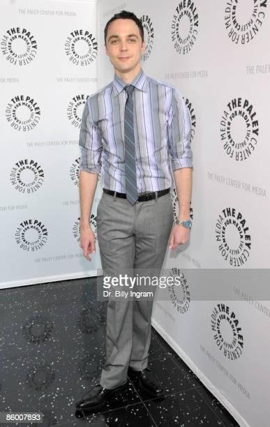 Actor Jim Parsons arrives at 'The Big Bang Theory' presented by PaleyFest09 at the ArcLight Theaters on April 16 2009 in Los Angeles California