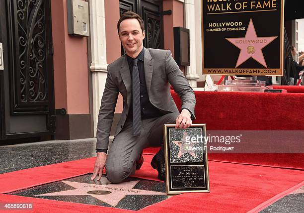 Actor Jim Parsons attends a ceremony honoring him wtih the 2545th Star on The Hollywood Walk Of Fame on March 11 2015 in Hollywood California