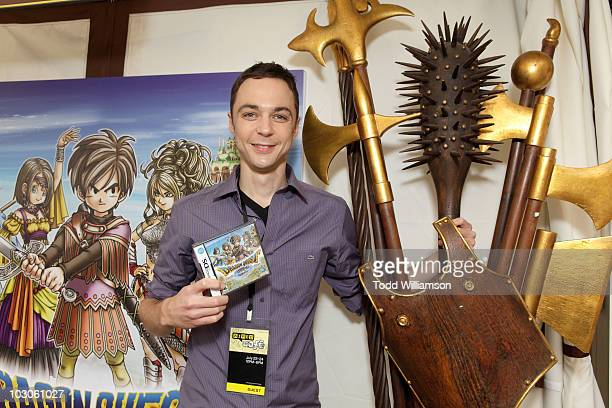 Actor Jim Parsons attends Day 2 of Nintendo's Dragon Quest IX Experience at The WIRED Cafe held at the Omni Hotel on July 23 2010 in San Diego...
