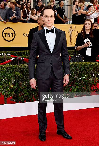 Actor Jim Parsons attends the 21st Annual Screen Actors Guild Awards at The Shrine Auditorium on January 25 2015 in Los Angeles California