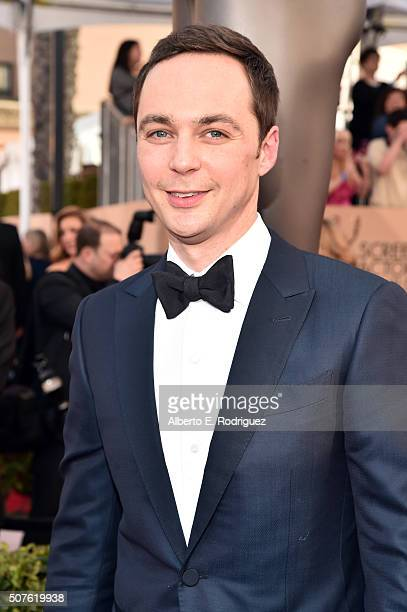 Actor Jim Parsons attends the 22nd Annual Screen Actors Guild Awards at The Shrine Auditorium on January 30 2016 in Los Angeles California