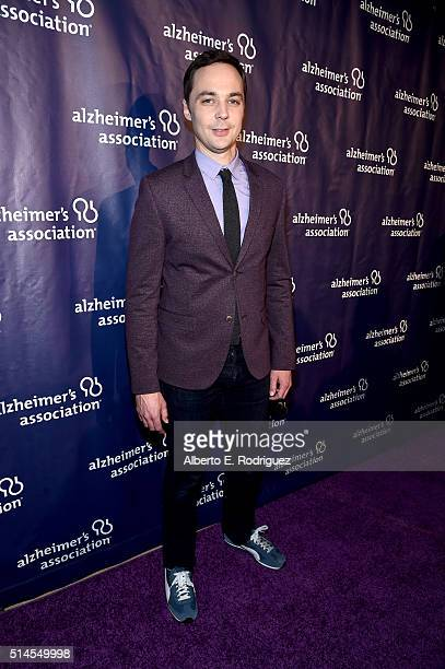 Actor Jim Parsons attends the 24th and final 'A Night at Sardi's' to benefit the Alzheimer's Association at The Beverly Hilton Hotel on March 9 2016...