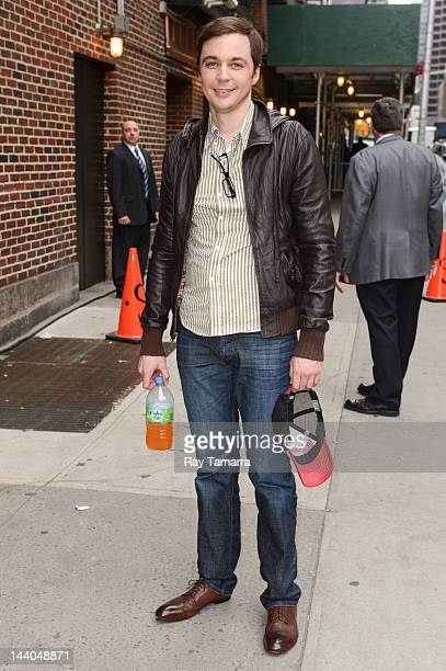 Actor Jim Parsons enters the 'Late Show With David Letterman' taping at the Ed Sullivan Theater on May 8 2012 in New York City
