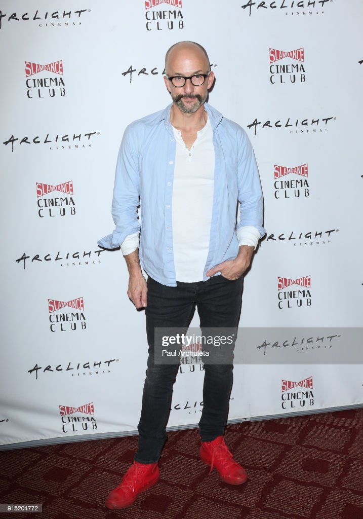 Actor Jim Rash attends the Slamdance Cinema Club screening of 'Bernard And Huey' at ArcLight Hollywood on February 6, 2018 in Hollywood, California.