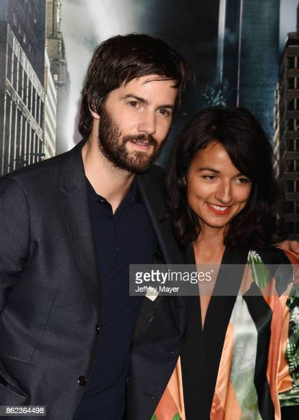 Actor Jim Sturgess and actress Dina Mousawi attend the premiere of Warner Bros Pictures' 'Geostorm' at the TCL Chinese Theatre on October 16 2017 in...