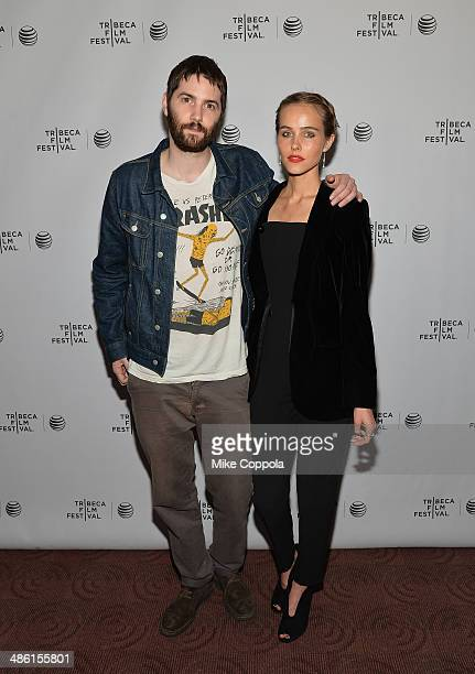 Actor Jim Sturgess and Actress/Model Isabel Lucas attends the Electric Slide Premiere during the 2014 Tribeca Film Festival at Chelsea Bow Tie...