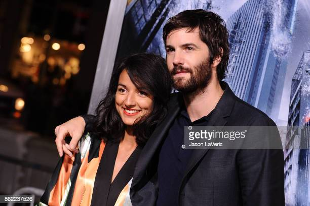 "Actor Jim Sturgess and Dina Mousawi attend the premiere of ""Geostorm"" at TCL Chinese Theatre on October 16, 2017 in Hollywood, California."