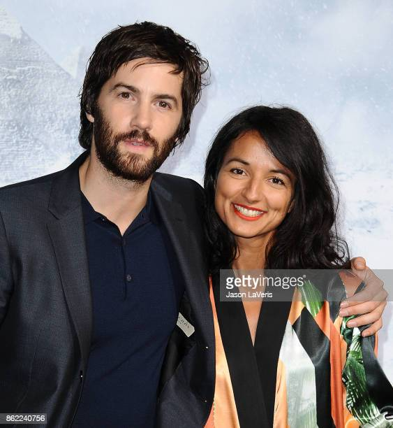 Actor Jim Sturgess and Dina Mousawi attend the premiere of 'Geostorm' at TCL Chinese Theatre on October 16 2017 in Hollywood California