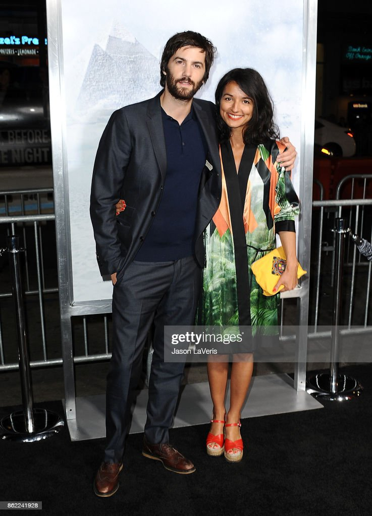 Actor Jim Sturgess and Dina Mousawi attend the premiere of 'Geostorm' at TCL Chinese Theatre on October 16, 2017 in Hollywood, California.