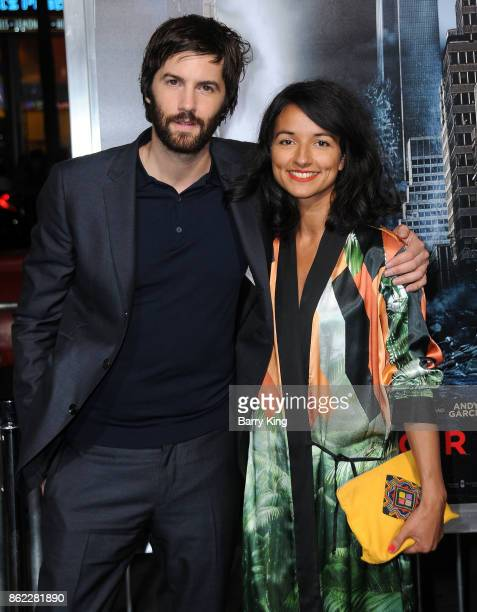 Actor Jim Sturgess and Dina Mousawi attend the premiere of Warner Bros Pictures' 'Geostorm' at TCL Chinese Theatre on October 16 2017 in Hollywood...