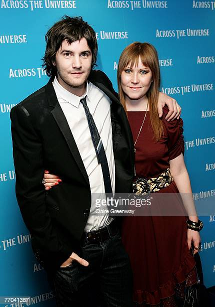 Actor Jim Sturgess and his girlfriend Mickey arrive at the gala premiere of 'Across The Universe' at the Apollo West End on September 26 2007 in...