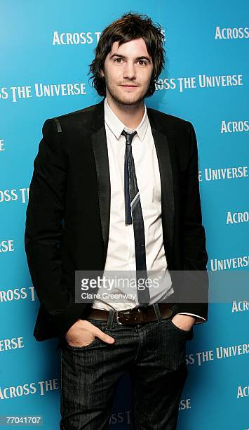 Actor Jim Sturgess arrives at the gala premiere of Across The Universe at the Apollo West End on September 26 2007 in London England