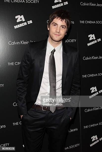 Actor Jim Sturgess attends a screening of 21 hosted by The Cinema Society and Calvin Klein Jeans at The IFC Center on March 26 2008 in New York City