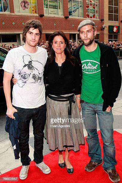 Actor Jim Sturgess director Julie Taymor and actor Joe Anderson arrive at the No Country for Old Men North American Premiere screening during the...