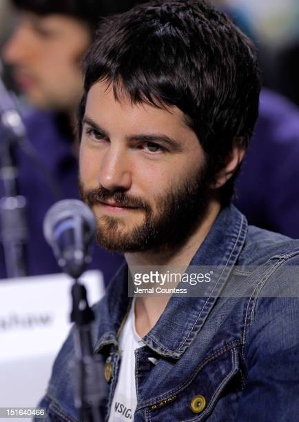 Actor Jim Sturgess speaks onstage at the 'Cloud Atlas' Press Conference during the 2012 Toronto International Film Festival at TIFF Bell Lightbox on...