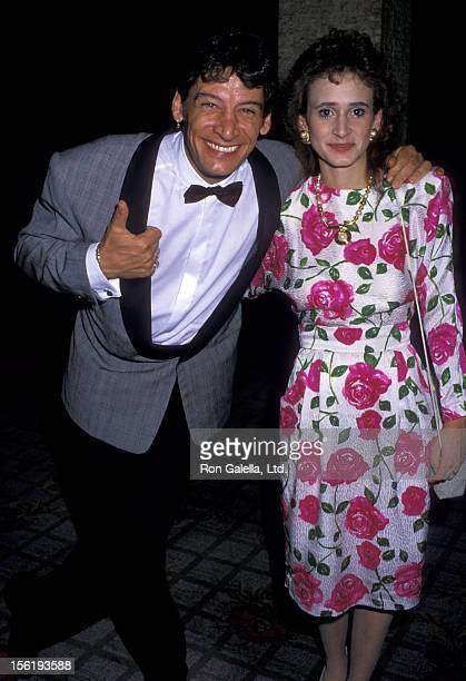 Actor Jim Varney and wife Jane Varney attend CBS TV Affiliates Party on June 14 1988 at the Century Plaza Hotel in Century City California